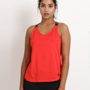 Red Nike Dri Fit Tank SZ M